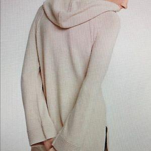 Ann Taylor Hoodie Tunic Sweater Wool Blend